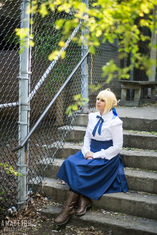 Saber from Fate Stay Cosplay