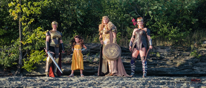 Amazons and Young Diana Group Cosplay