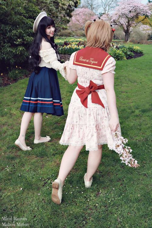Tomoyo & Sakura from Cardcaptor Sakura Cosplay