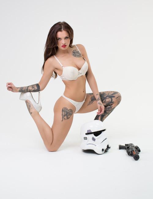 Star Wars Stormtrooper Lingerie Photoshoot