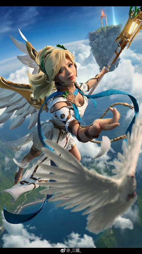 Winged Victory Mercy from Overwatch Cosplay