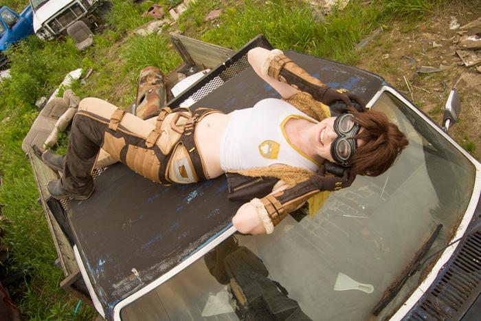 Junker Skin D.Va from Overwatch Cosplay