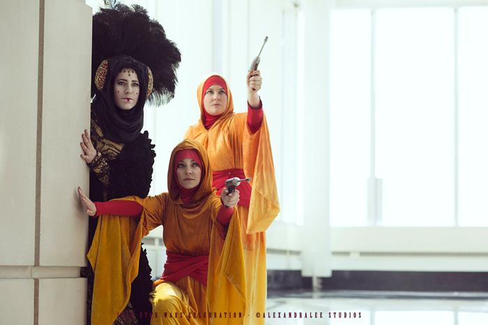 Decoy Queen Amidala & Handmaidens Cosplay