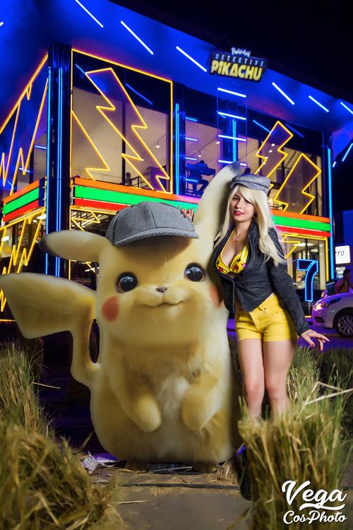 Detective Pikachu Girl At Pokemon 7 Eleven Photoshoot