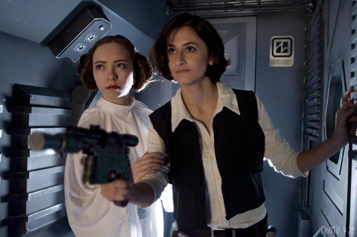 Princess Leia & Genderbent Han Solo Cosplay