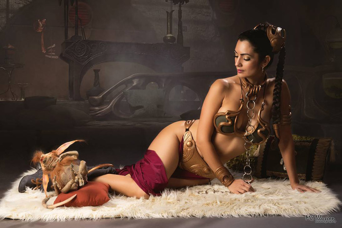 Slave Leia from Star Wars Cosplay