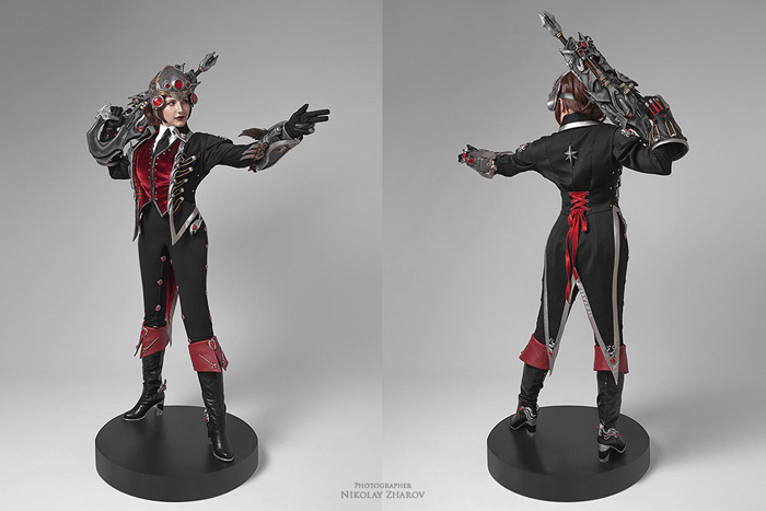 Huntress Widowmaker from Overwatch Cosplay