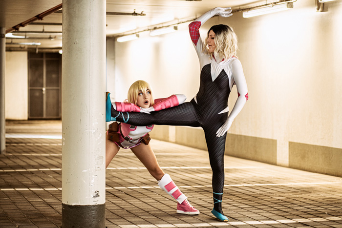 Spider-Gwen & Gwenpool Cosplay