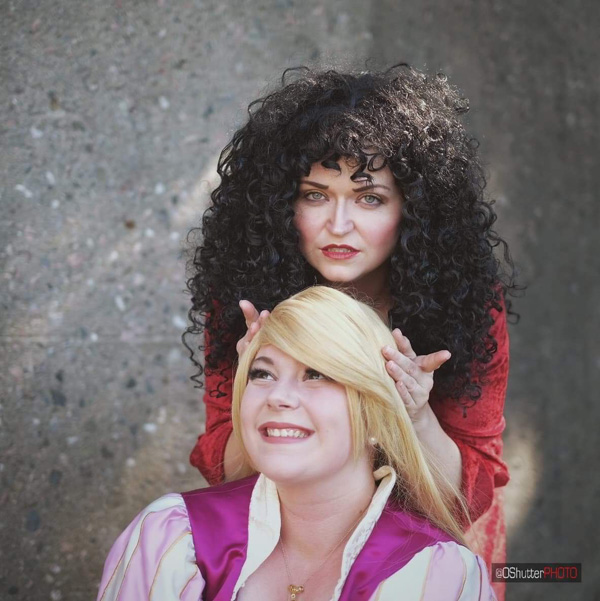 Mother Gothel and Rapunzel Cosplay