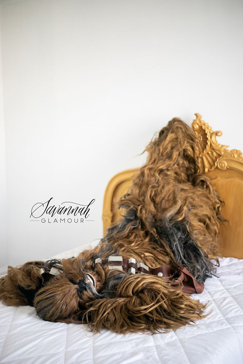 Chewbacca Boudoir Photoshoot