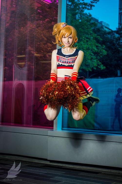 Eli & Honoka Cheerleaders from Love Live! Cosplay