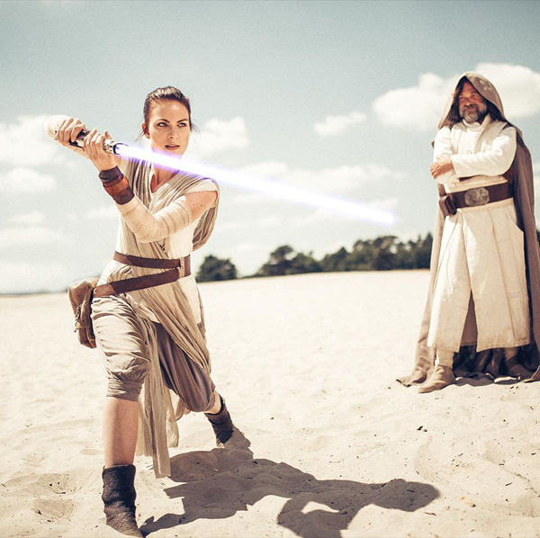 Rey, Luke & Leia from Star Wars Cosplay