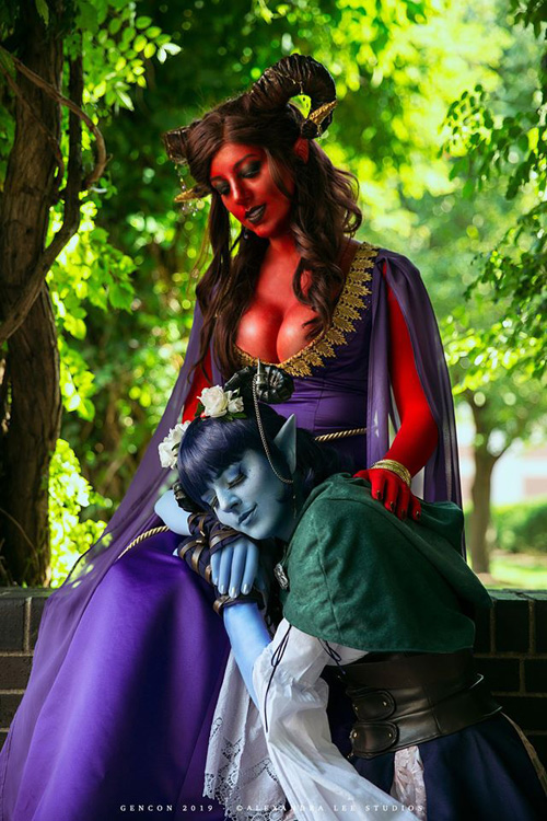 Jester and Marion from Critical Role Cosplay