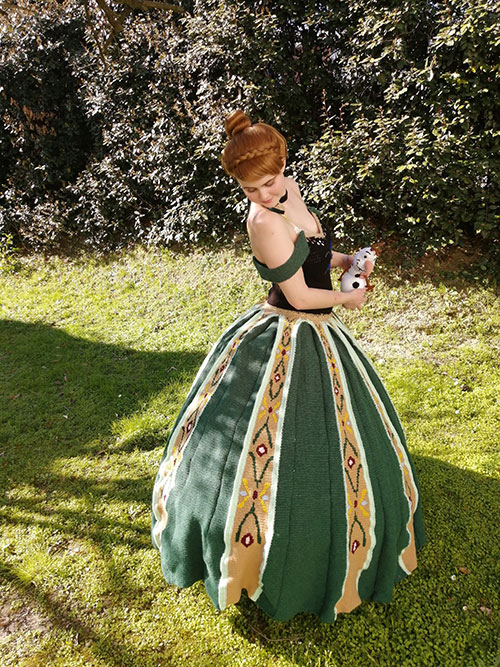 Anna from Frozen Crochet Dress Cosplay