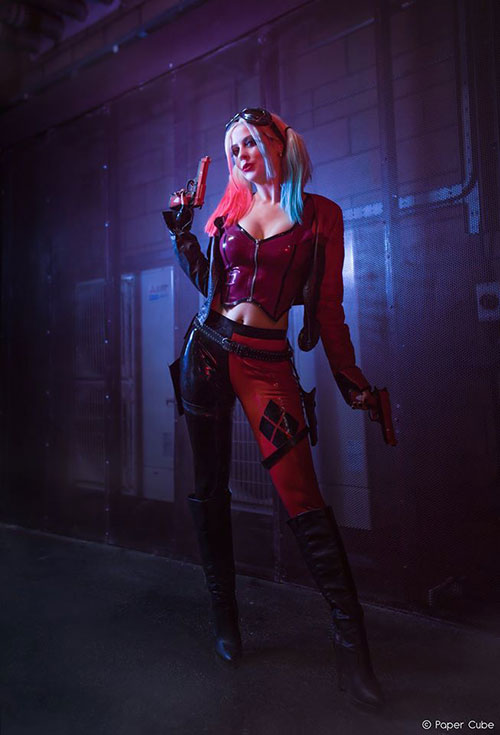 Harley Quinn from Injustice Latex Cosplay