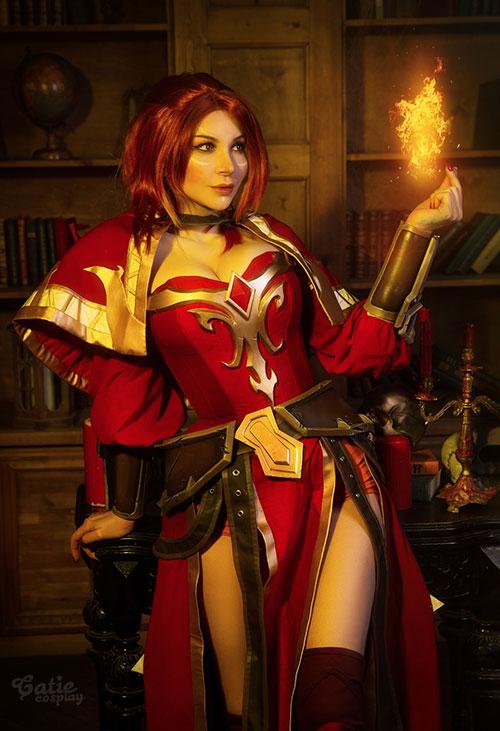 Lina from Dota 2 Cosplay