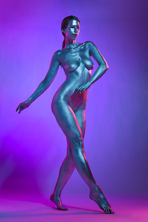 Android/Robot Inspired Body Paint