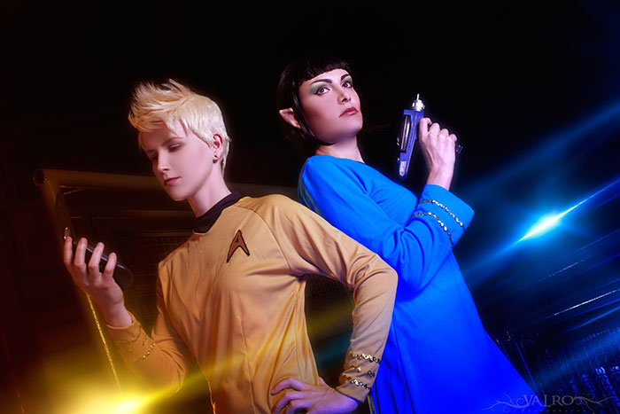 Kirk and Spock from Star Trek Cosplay