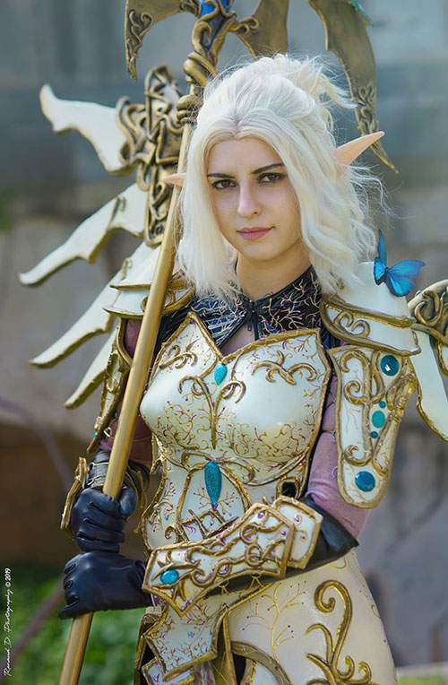 Blood Elf Priestess Mercy from Overwatch Cosplay