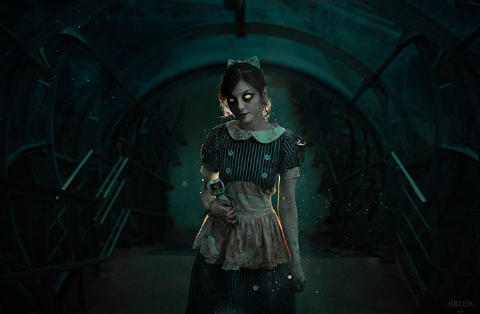 Little Sister & Splicer from BioShock Cosplay