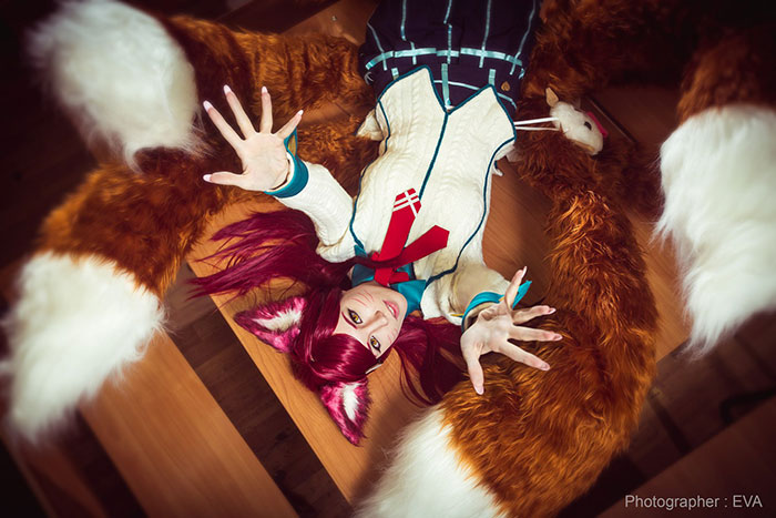 Academy Ahri from League of Legends Cosplay