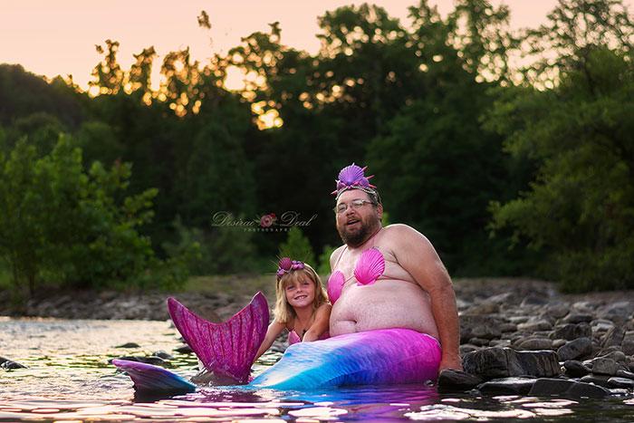 Daddy Daughter Mermaid Photoshoot