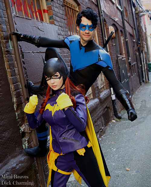 Batgirl and Nightwing from DC Comics Cosplay