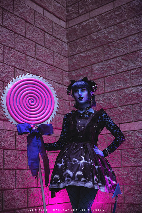 Goth Jester from Critical Role Cosplay