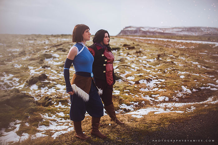 Korra and Asami from The Legend of Korra Cosplay