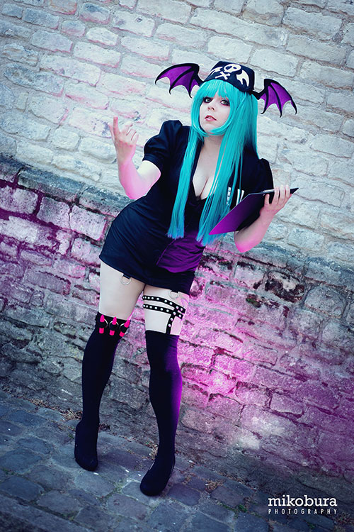 Morrigan Nurse from Darkstalkers Cosplay