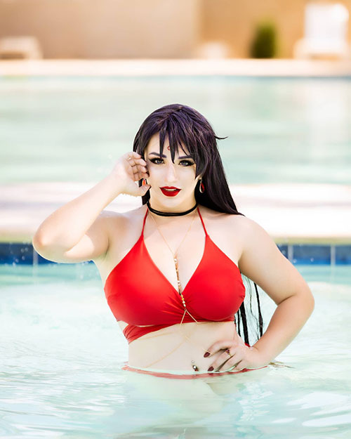 Sailor Mars from Sailor Moon Swimsuit Cosplay