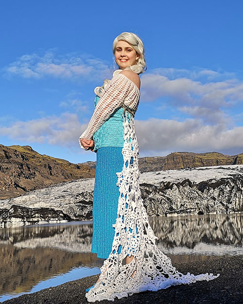 Elsa from Frozen Crocheted Cosplay