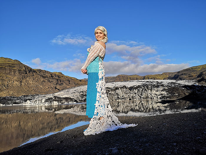 Elsa from Frozen Crocheted Cosplay