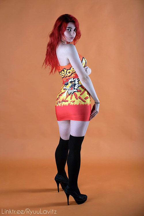 Cheetos Dress Photoshoot