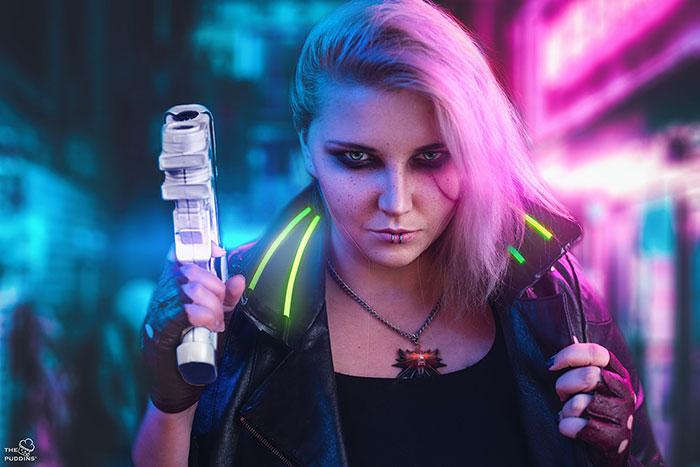 Cyberpunk Ciri Cosplay