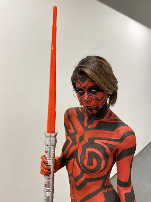 Darth Maul Body Paint