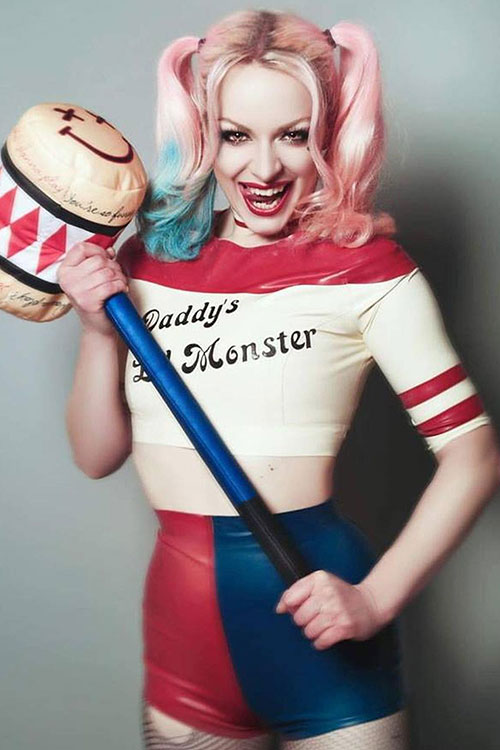 Harley Quinn from Suicide Squad Latex Cosplay