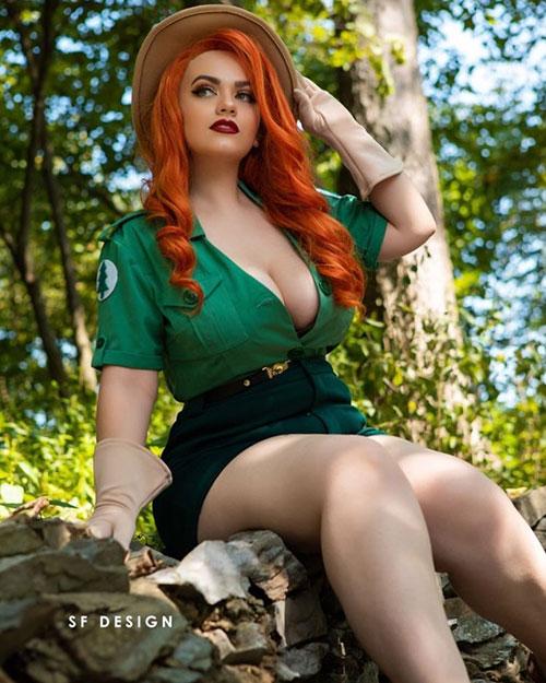 Park Ranger Jessica Rabbit Cosplay