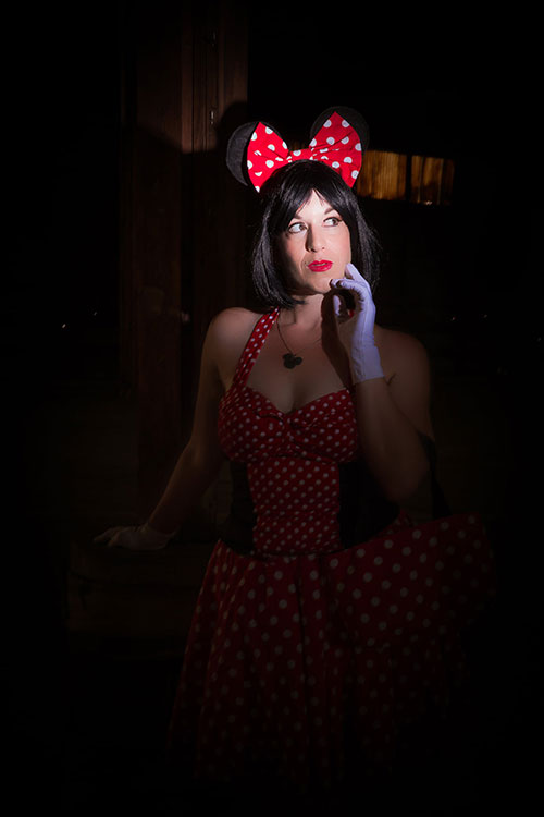 Pinup Minnie Mouse Cosplay