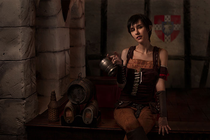 Eveline Gallo from The Witcher 3: Hearts of Stone Cosplay