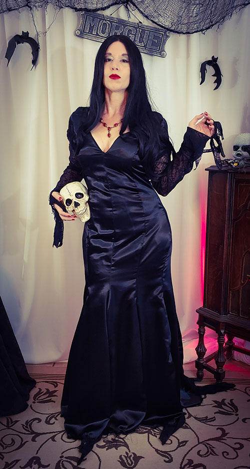 Morticia from The Addams Family Cosplay