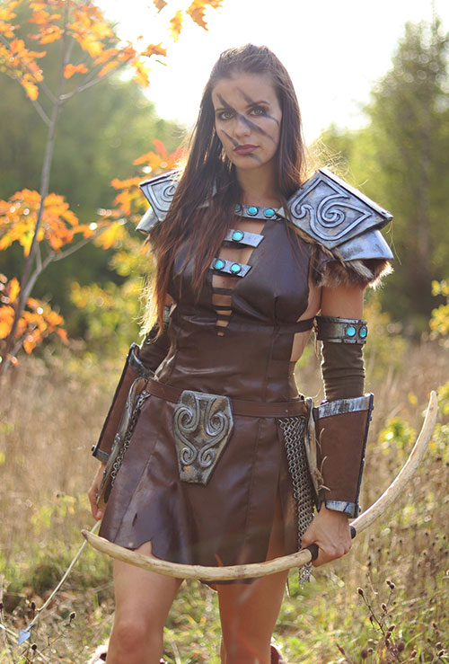 Aela the Huntress from Skyrim Cosplay