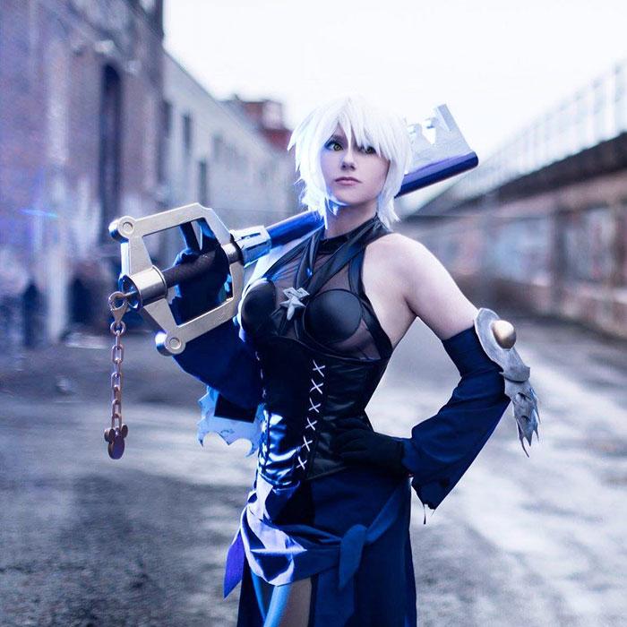 Aqua from Kingdom Hearts III Cosplay