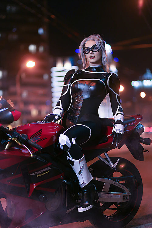 Black Cat from Spider-Man: The Heist Cosplay