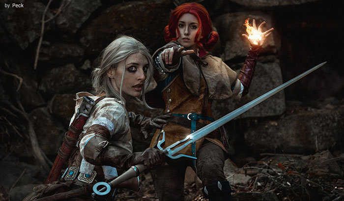 Ciri & Triss from The Witcher 3 Cosplay