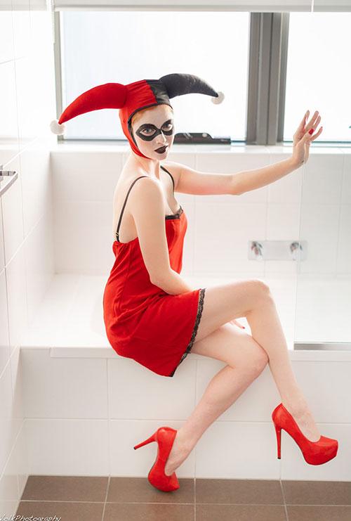 Harley Quinn Boudoir Cosplay