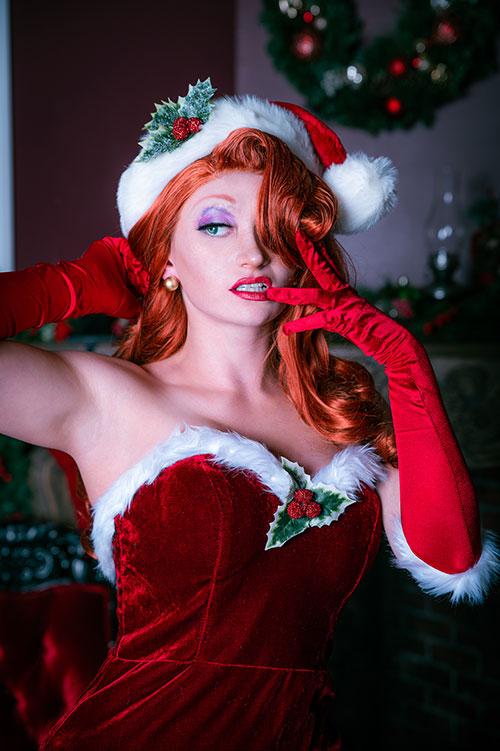 Christmas Jessica Rabbit Cosplay