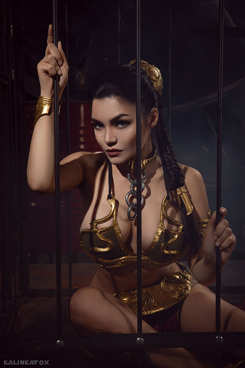 Slave Leia from Star Wars: Return of the Jedi Cosplay