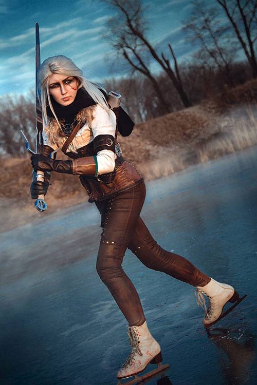 Ciri from The Witcher 3 : Wild Hunt on Ice Cosplay