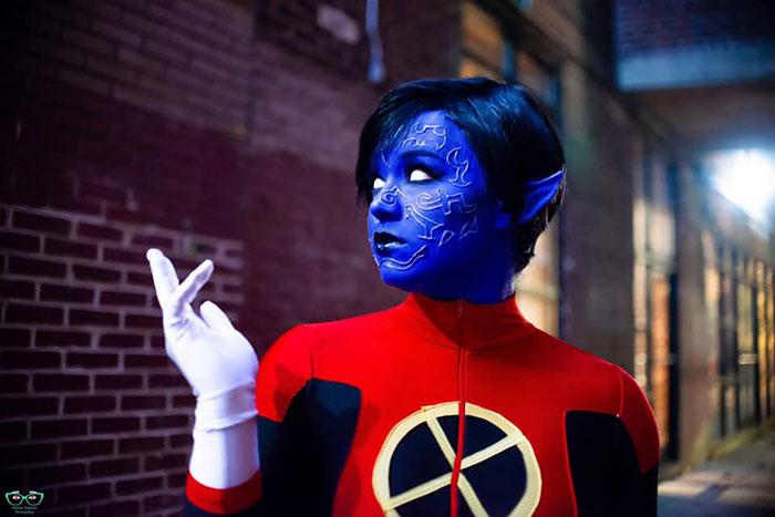 Genderbent Nightcrawler from X-Men Cosplay